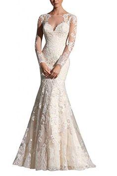 MiLano Bride Grace Illusion Neck Long Sleeves Mermaid Floral Wedding Dresses Reviews     #Bride, #Dresses, #Floral, #Grace, #Illusion, #Long, #Mermaid, #MiLano, #Neck, #Reviews, #Sleeves, #Wedding