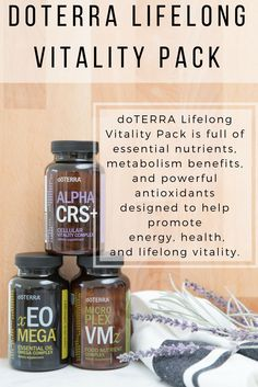 Promote healthy aging with doTERRA's LIfelong Vitality Pack. These supplements will help you to feel on top of your daily health!