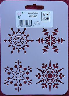Stencil Snowflakes Paint Crafts Cards Scrapbooking Winter Home Decor 4 styles- for face painting?
