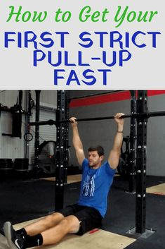 How to Get Your First Strict Pull-Up Fast | Home Training Gym. Learn the 4 progressions you can take to getting a strict pull-up. #exercises #howtodoastrictpullup #fitness #strictpullup