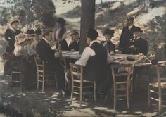 Municipale de lyon, 1910, family dinner outside