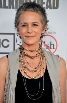 Melissa McBride plays Carol on 'The Walking Dead'. I'm loving her haircut.