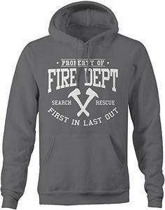Shirts By Sarah Men's Firefighter Hoodie Property Of Fire Dept Sweatshirt Basic Hoodie, Irish Pride, Fire Dept, Graphic Sweatshirt, T Shirt, Hooded Sweatshirts, Men's Hoodies, Pullover, Cozy