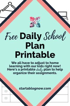 It's a unique time in our history. As I've struggled to help my children adapt to home learning, I've had to create fun kids' printables to help. Our Kids, My Children, School Plan, Home Learning, How To Start A Blog, Elementary Schools, Free Printables, Organize, About Me Blog