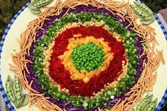 Red Cabbage Wreath Salad