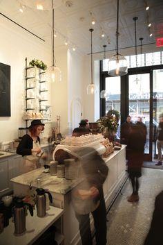 Una cafetería preciosa en Nueva York: Toby's Estate Bar
