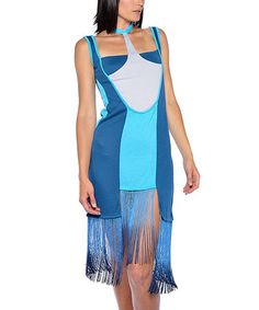 Another great find on #zulily! Blue Fringe Sleeveless Dress by Nuvula #zulilyfinds