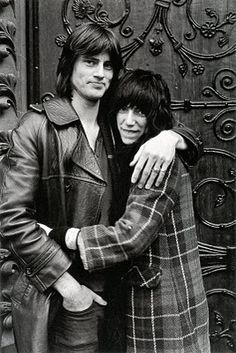 "Sam Shepard & Patti Smith, lovers & co-authors of ""Cowboy Mouth. Sam Shepard, Patti Smith, Cowboy Mouth, Just Kids, London Photos, Iconic Photos, Dalai Lama, Thing 1, Just Kidding"