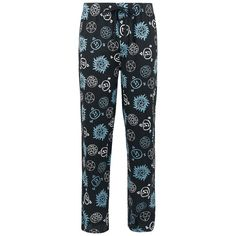 Blue And White Symbols Casual Cosplay, Pajama Pants, Pajamas, Blue And White, Symbols, Rock, Supernatural, Clothes, Nerdy