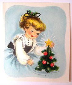 Hallmark Vintage Christmas Card with envelope UNUSED