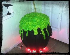 Easy Witch's Cauldron from a Yoga Ball