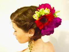 Bold and beautiful floral clip by dahliasanddaydreams on Etsy https://www.etsy.com/listing/264111381/bold-and-beautiful-floral-clip