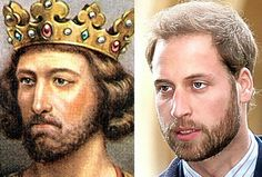 Royal we: King Edward I and Prince William, his 21 times great-grandson, share the same eyes and nose.through his Spencer bloodline he is more royal than through the other Prince And Princess, Princess Kate, Princess Beatrice, Royal Prince, Prince William And Kate, William Kate, Prince Phillip, Royals England, Lady Diana