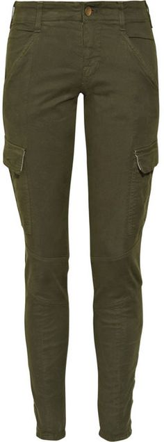 J Brand Denim Houlihan low-rise skinny cropped cargo pants