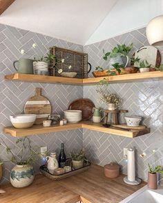 Joss And Main, Kitchen Shelves, Kitchen Decor, Homey Kitchen, Kitchen Stuff, Ikea, Updated Kitchen, Cozy House, Home Decor Items