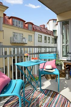 Een bohemian balkon