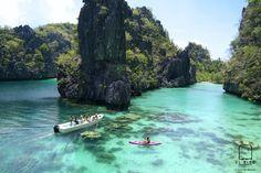 palawan the philippines! El-Nido-Miniloc-Island-Resort Palawan Philippines-Kayaking-at-the-Big-Lagoon Palawan Island, El Nido Palawan, Coron Palawan, Boracay Island, Les Philippines, Philippines Travel, Philippines Palawan, Beautiful Islands, Beautiful World
