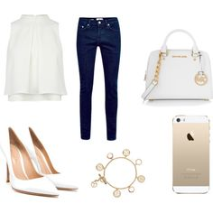 Untitled #616 by emmahhayes on Polyvore featuring polyvore fashion style Gianvito Rossi MICHAEL Michael Kors Tory Burch FingerPrint Jewellry