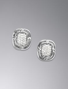 David Yurman Labyrinth Earrings With Pave Diamonds Available At Brown Co Jewelers