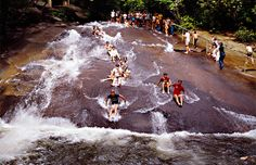 Sliding Rock, North Carolina. Natural swimming hole.