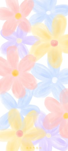 Floral Wallpaper Iphone, Cute Pastel Wallpaper, Flower Background Wallpaper, Soft Wallpaper, Cute Patterns Wallpaper, Aesthetic Pastel Wallpaper, Kawaii Wallpaper, Cute Wallpaper Backgrounds, Pretty Wallpapers