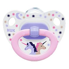 Our bestseller NUK Pacifier - the pink UNICORN pacifier. We also have it for 6-18 months and 18-36 months babies.