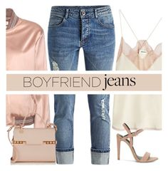 """""""Boyfriend Jeans"""" by mrseclipse ❤ liked on Polyvore featuring Yves Saint Laurent, Zadig & Voltaire, Rebecca Minkoff, Delvaux and boyfriendjeans"""