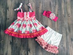 Serendipity Clothing Bloom Tunic & icing shortie set (style 1841)