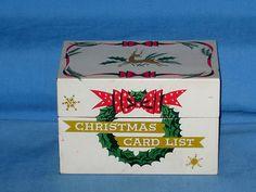 Christmas Card List Box