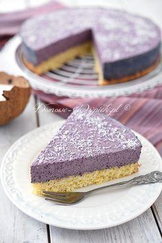 Ciasto kokosowe z kremem jagodowym W 6, Confectionery, Vanilla Cake, Muffins, Cooking Recipes, Cupcakes, Baking, Party, Kitchens