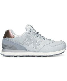 New Balance Women's 574 Heathered Casual Sneakers from Finish Line | macys.com