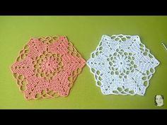 Crochet : Hexágono # 2. Uniones - YouTube