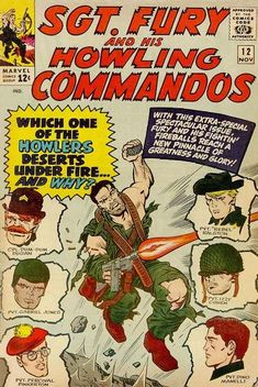 1964 Alley Award: Best Miscellaneous Fiction - Sgt. Fury and His Howling Commandos  (Marvel Comics)