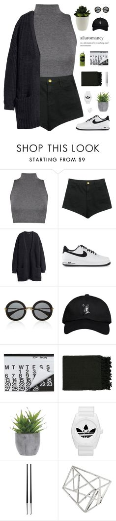 """""""welcome back"""" by cottonisth ❤ liked on Polyvore featuring NIKE, Miu Miu, October's Very Own, Crate and Barrel, Moon Juice, Surya, Lux-Art Silks, adidas Originals, Christofle and Topshop"""