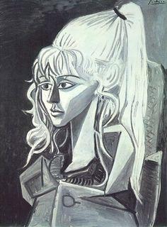 Pablo Picasso. Portrait de Sylvette David 21. 1954 year