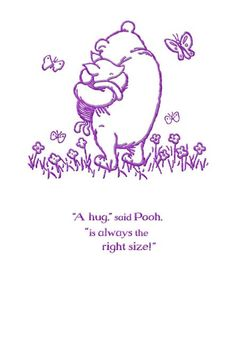 "Winnie the Pooh and Piglet remind us that hugs are always the right size! So look through your card list and determine who needs some Easter hugs! This ""thinking of you"" card lets you reach out to those people you hold close in your heart."