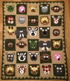 Ravelry: lfilarsky's Jungle Buddies Blanket ( Zookeeper's Blanket by Justine Walley )