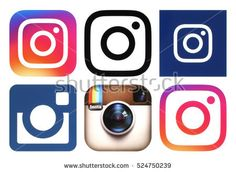 Kiev, Ukraine - November 25, 2016: Instagram logos printed on white paper. Instagram is an online mobile photo-sharing, video-sharing service