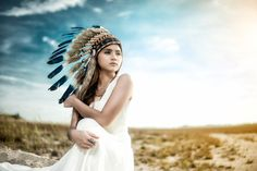 Native girl - Red Indian photoshoot project.