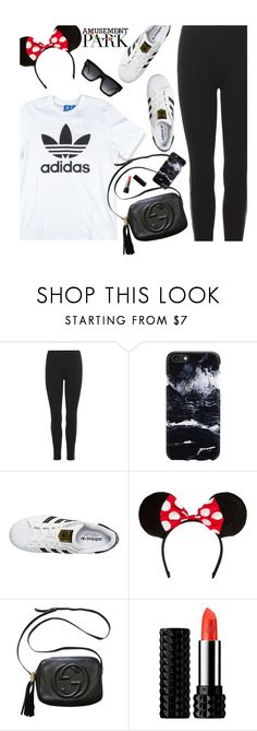 """""""60 Second Style: Disney"""" by hollowpoint-smile ❤ liked on Polyvore featuring Polo Ralph Lauren, adidas Originals, adidas, Gucci, Kat Von D and CÉLINE"""