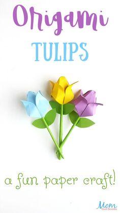 Origami Tulips: A Fun Paper Craft!