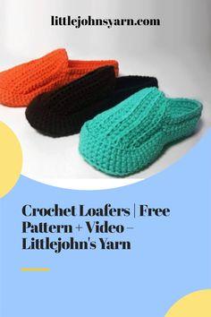 Crochet Slipper Pattern, Crochet Slippers, Crochet Patterns, Beginner Crochet, Crochet For Beginners, Love Crochet, Crochet Hats, Shoe Pattern, Slipper Socks