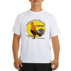 Chicago Rising Cock Men's Performance Dry T-Shirt.  To see all MEN'S Parody shirts with this image and the city names available - follow this link;   http://www.cafepress.com/cheylines/9053145