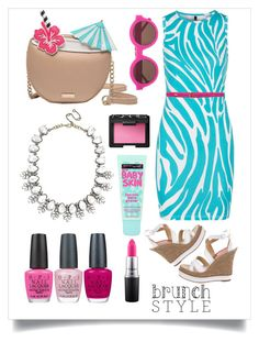 """brunch style"" by erikax8977 ❤ liked on Polyvore featuring Kate Spade, Versus, Paloma Berceló, BaubleBar, Lauren Ralph Lauren, OPI, NARS Cosmetics, Maybelline, MAC Cosmetics and Preen"