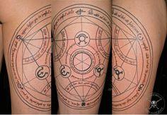 Jay Blondel tattoo - Full metal alchemist, human transmutation circle