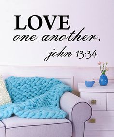 Love this 'Love One Another' Wall Decal on #zulily! #zulilyfinds