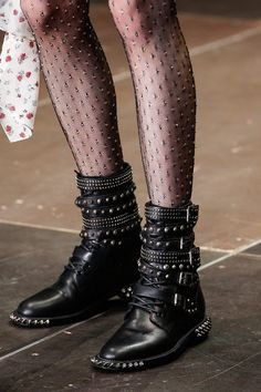 The crystal-encrusted tights - Saint Laurent