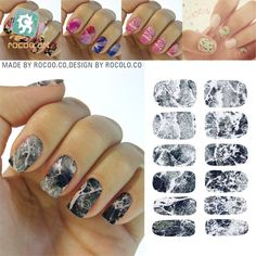 1set gold 3d nail art stickers decals patch metallic flowers k5733 2017 new water transfer nail foil sticker art sexy light black gray marble stone rock prinsesfo Gallery