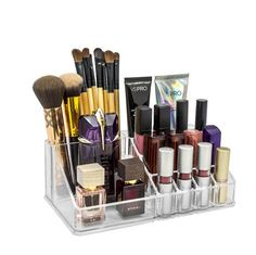 Sorbus Acrylic Cosmetics Makeup and Jewelry Storage Case Display Top-Glamorous, Space-Saving, Stylish Acrylic Bathroom Organizer (Top Style 1 ), Clear Makeup Jewellery Storage, Makeup Storage Display, Makeup Storage Case, Cosmetic Storage, Makeup Case, Jewelry Storage, Cosmetic Items, Makeup Box, Cosmetic Case