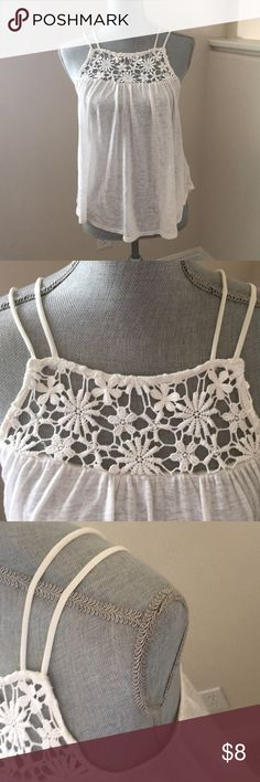 Kimchi Blue Ivory Tank - S Fun Tank!  Great Paired with Denim.  Slightly Longer in Back. No Stains/Discoloration. Kimchi Blue Tops Tank Tops